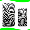 2014 New Standing Cellphone Case with Card Holder Zebra Stripe PU Leather Flip Cover Case for Iphone 6 Plus 5.5