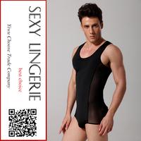 Chinese sexy gay men underwear hot selling transparent men underwear teddies