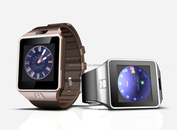 1.54 inch screen Bluetooth watch phone with SIM card slot Smart Wrist Phone brown