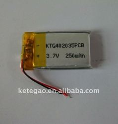 3.7V polymer lithium ion battery 402035