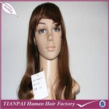 High quality cheap machine made long KANEKALON blonde synthetic fiber women's wig