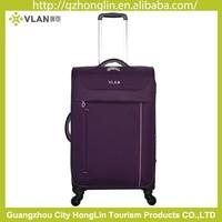 wholesale nylon purple color luggage