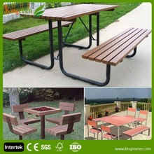 New design garden furniture patio furniture table and garden chair from eco wood plastic composite furniture