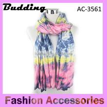 2015 Latest design colours infinity viscose tie dye dupatta scarf