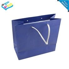 china hand made laminated solid colour paper gift bag with logo