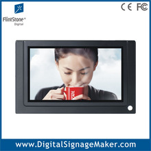 7 inch advertising lcd video display indoor