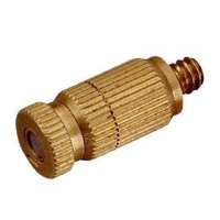 Brass greenhouse humidifying and cooling anti-clog misting nozzle