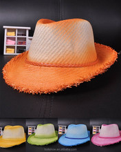 Newest Cowboy Style Gradient Color Girl's Boys Fedora Cap