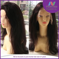No tangle no shed virgin remy brazilian natural hair wig for men