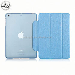 Ultra Thin Transparent PC Hard Back Cover Smart PU Leather Case Case for ipad 3