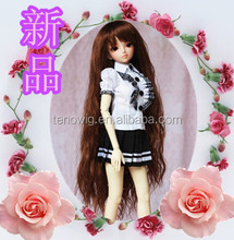 Super long fashion curly synthetic bjd doll wig