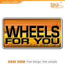 embossed decorative metal tin sign for drink/street/road