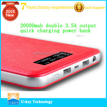 Mobile Power bank 20000mah 2015 Stylish and exquisite appearance ultra thin and light power bank 20000mah for mobiles/iPad/PC