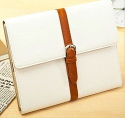 Portfolio PU Leather Case Cover Skin Pouch for Apple Ipad 2