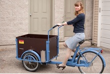 2015 hot sale Three Wheel Pedal Cargo Tricycle