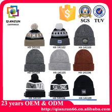 Winter Jacquard Knitted Men Beanie Hats
