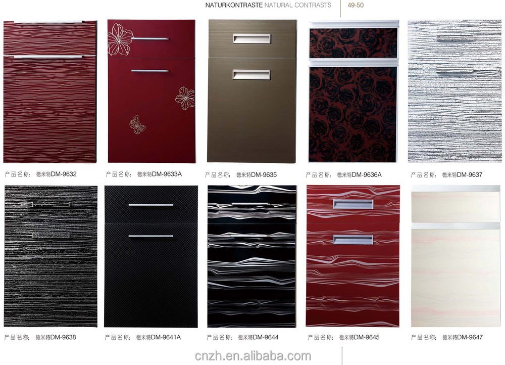 Plastic Panels For Cabinet Doors : High glossy used white laminated kitchen cabinet door for