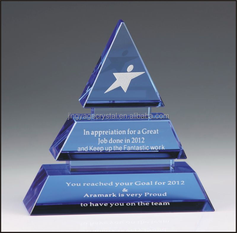 Sapphire Pinnacle Crystal Award