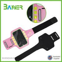 High quality LED neoprene phone bag sports armband for sale