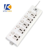 3/4/5 Outlet Power Strip/ Individual Switch With CE