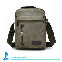 Men's Vintage Canvas bags School Shoulder Bag messenger Bag