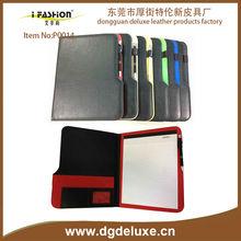 china guandong dongguan A4 a5 custom business pu pvc leather woman portfolio