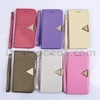 Wholesale Tribal Grid Crystal Pattern Magnetic Flip Stand With Strap Leather TPU+PU Covers for Samsung Galaxy Note 3 N9000