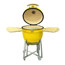 New galzed colorful portable ceramic barbecue grill smoker