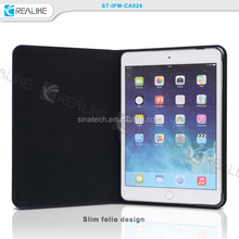 for apple ipad mini 4 accessories folio leather cover,ultra thin book case for ipad mini 1/2/3/4