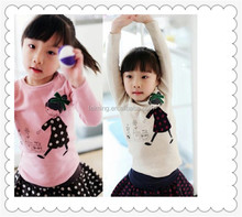 hot sale newest design baby cotton plaint t-shirt for 2-7 years