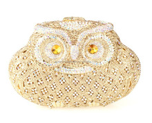 Top quality owl ANIMAL shaped crystal evening bag