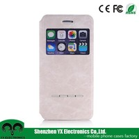 pu leather flip auto sleep/wake smart case for iphone 6