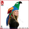 Promotional china wholesale party costume hats plush parrot animal hat