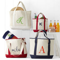 Superior quality zipper foldable handle cotton canvas shopping bag, cotton canvas tote bag