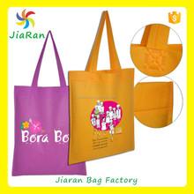 yellow color design non woven reusable folding Recycle Shopping Cloth bag ,heat transfer printing bag