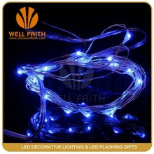 AA Battery Powered Ultra thin micro silver copper wire led string light, factory wholesale led globe string lights