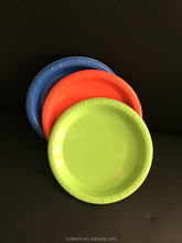"""9"""" Disposable Colored Plastic Round Plates For Party"""