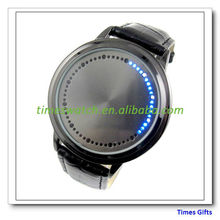 2013 New Brand Abyss Inspired Blue LED Touch Screen Soft Leather Fashion Watch