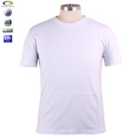 Cheap white 95 cotton 5 spandex t shirts wholesale plain