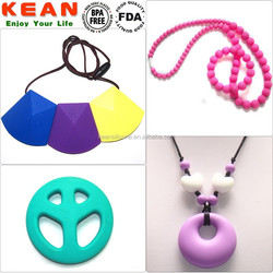 New lady jewelrys silicone beads pendant and necklaces jewelry
