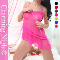 Charming Night Lace fabric wholesale sexy transparent lingerie 8070#