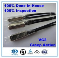 VC2 High Normally Open Creep Action Bimetal Thermal Switch Thermostat for Fan Motor