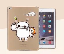 Fashion Cartoon TPU silicone transparent Printing Phone Case for ipad mini