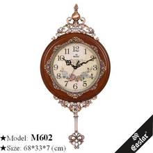 Beautiful decorative wall glass clock pendulum wall clocks