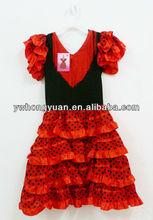 Vestidos de las niñas para flamenco, vestido de baile español