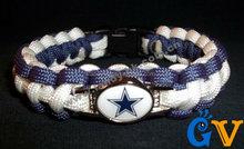 Hot selling outdoor team bracelet dallas cowboys charm for promotional gift,paracord bracelet