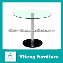 cheap round clear table