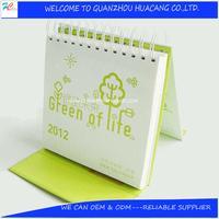 hot! cute baby desk calendar/spiral-bound desktop calendar/beautiful designs desk calendar