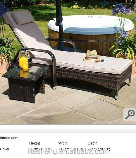 Leisure design outdoor beach plastic rattan chaise longue for Chaise longue plastique