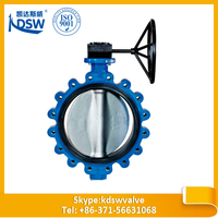 Monel metal sealing surface lug butterfly valve